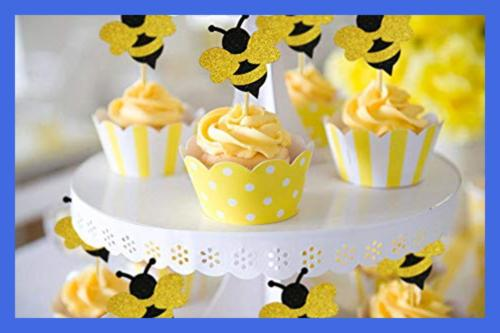 Glitter Bee Baby Shower Birthday