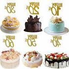 Glitter Cupcake Cake Topper Wedding 10th~60th Anniversary Ha