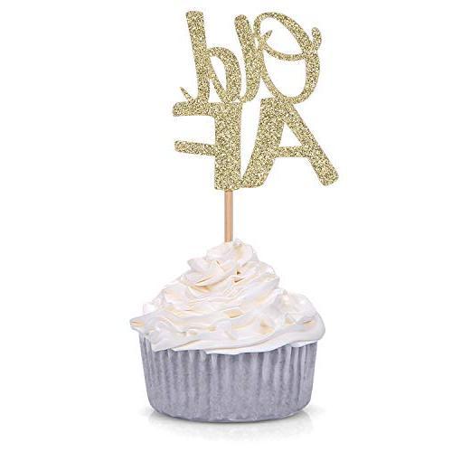 glitter old af cupcake toppers