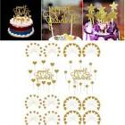 gold glitter cake cupcake toppers set happy