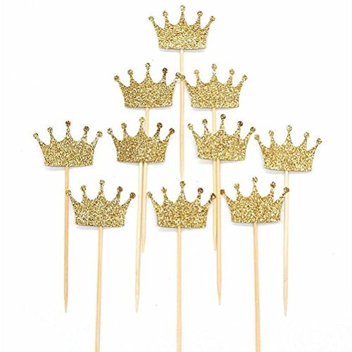 gold glitter crown cake cupcake