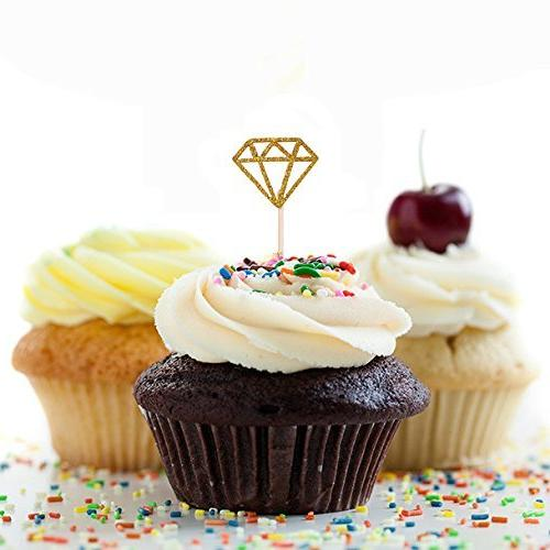 Toppers Diamond Cake Decorations Bridal Supplies Table Shower,pack of