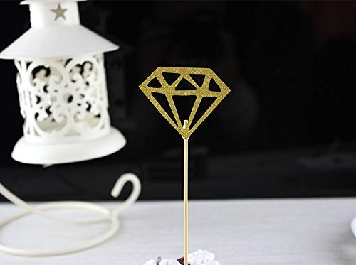 Besokuse Gold Glitter Toppers Table Birthday Party Shower,pack