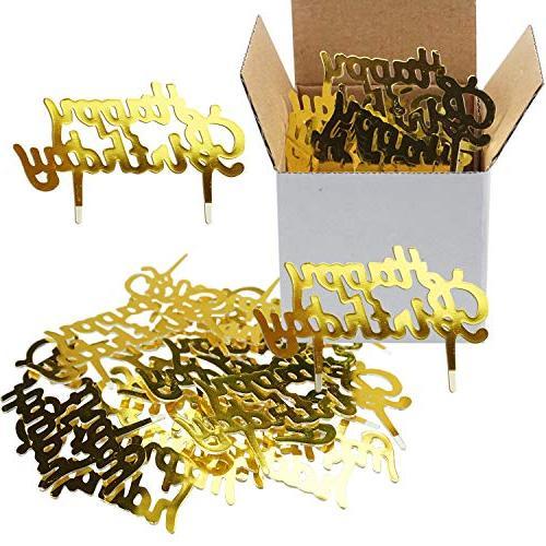 gold mini plastic happy birthday