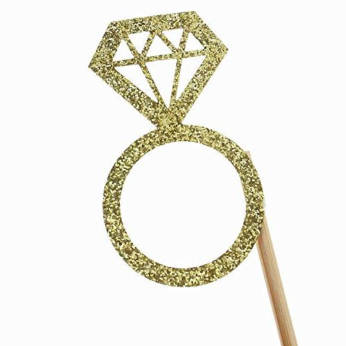 Shxstore Yaaas Yes Diamond Ring Toppers Wedding Supplies