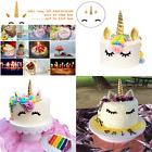 Gold Unicorn Cake Topper Set Party Supplies Polymer Clay Cup