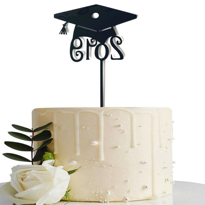 Grad DIY Craft Toppers Cake 2019 Graduation Food Sticks