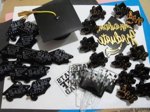 graduation cake topper party grad 24 cupcake