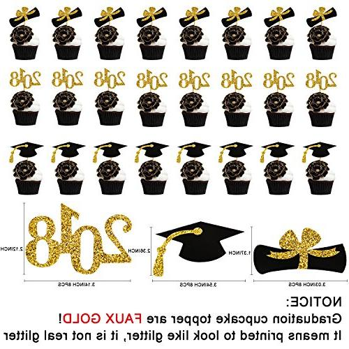 Graduation Cupcake Holder& BONUS Picks Decoration 3 Tiered Cupcake Stands for Grad Party Serving Dessert