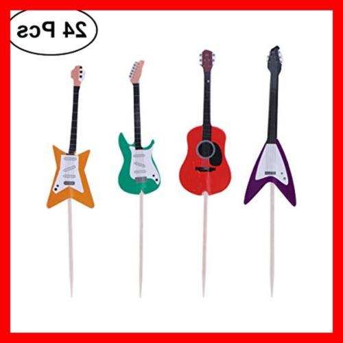 TINKSKY Guitar Cupcake Musical Instrument Shape Tools