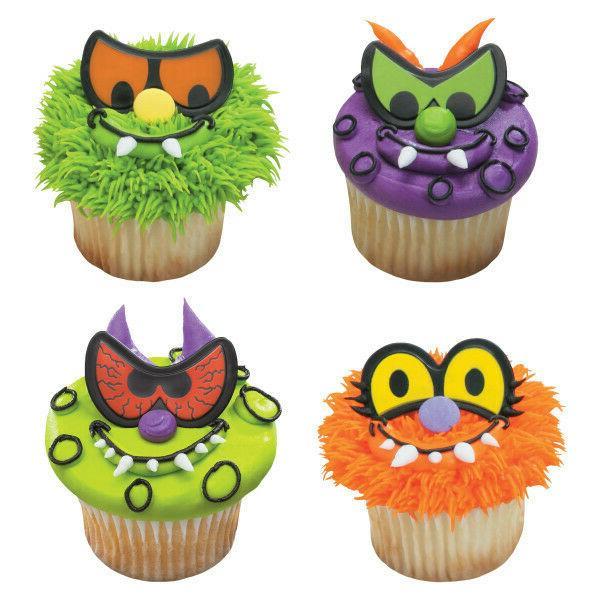 halloween cake toppers scary eyes cupcake picks