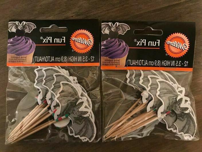 halloween cupcake picks toppers creepy friendly bat
