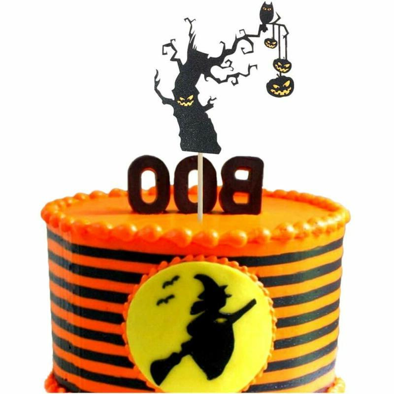 Halloween Cupcake Cake Topper Decoration Party Baking Supplies