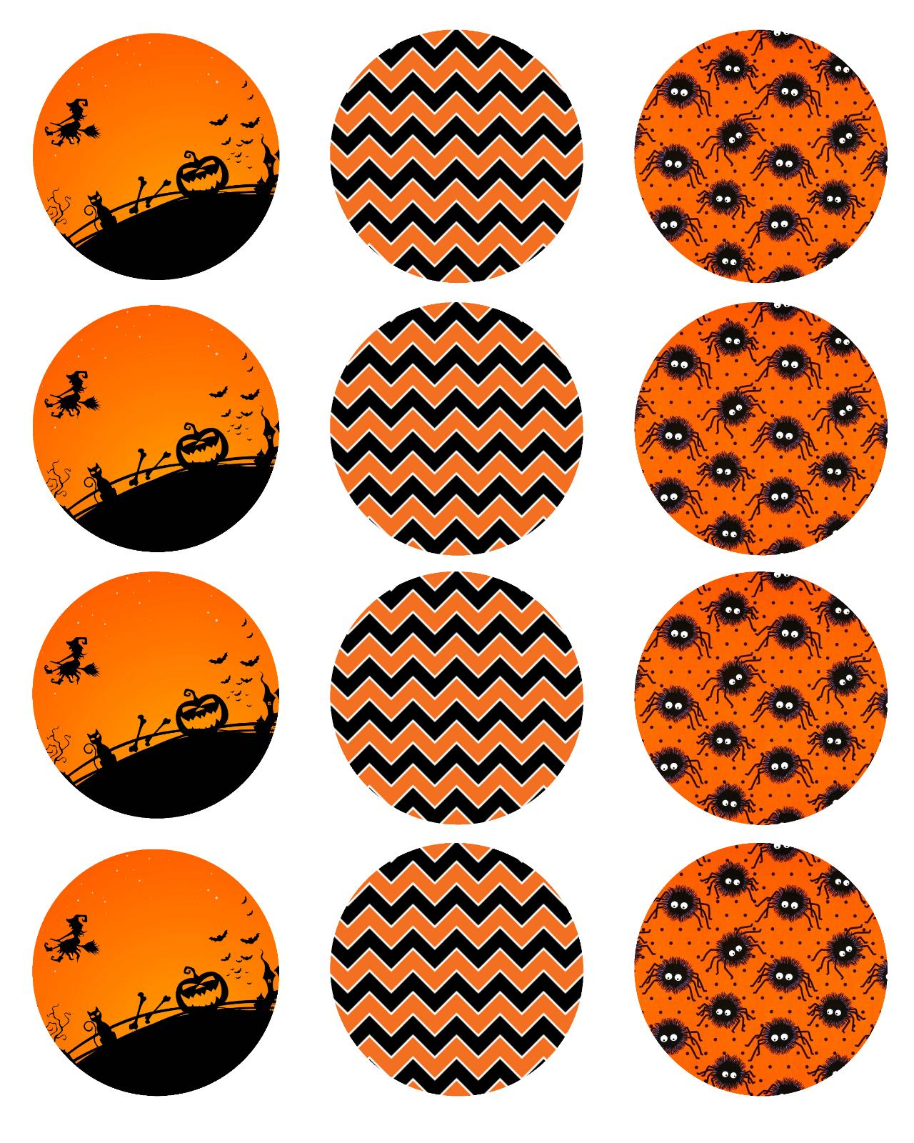 HALLOWEEN DESIGNS Edible toppers - WAFER PAPER
