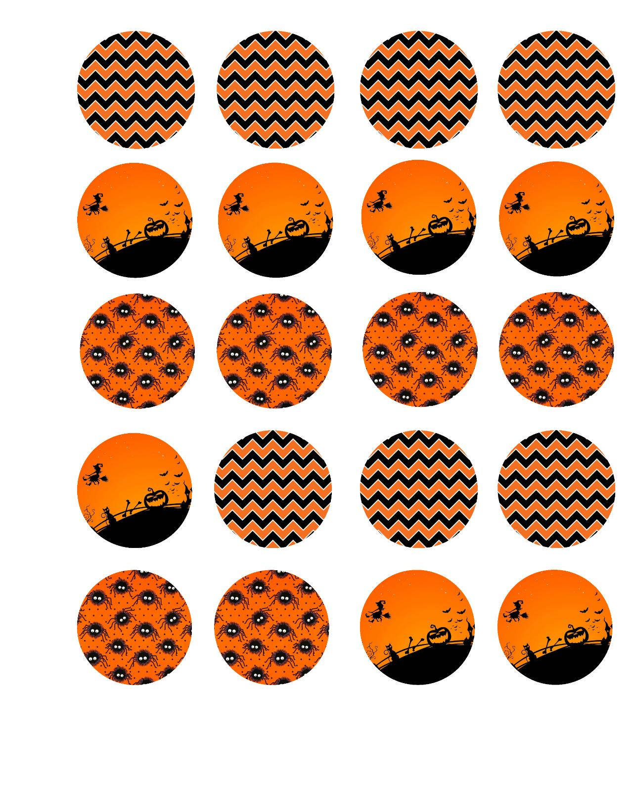 halloween designs edible cookie cupcake toppers pre