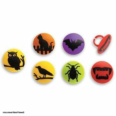 halloween oration cake cupcake toppers x12 spider