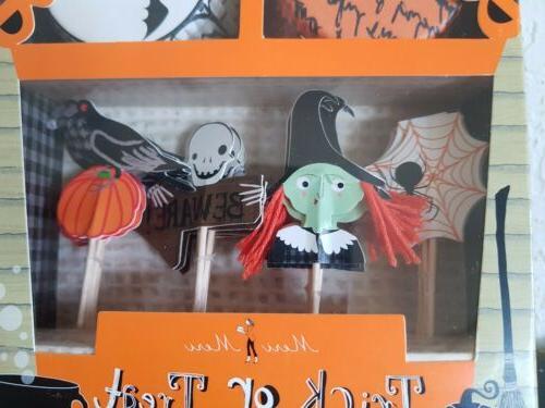 Meri HALLOWEEN or Treat 24 Cupcake Decor Kit Witch/Ghost NEW