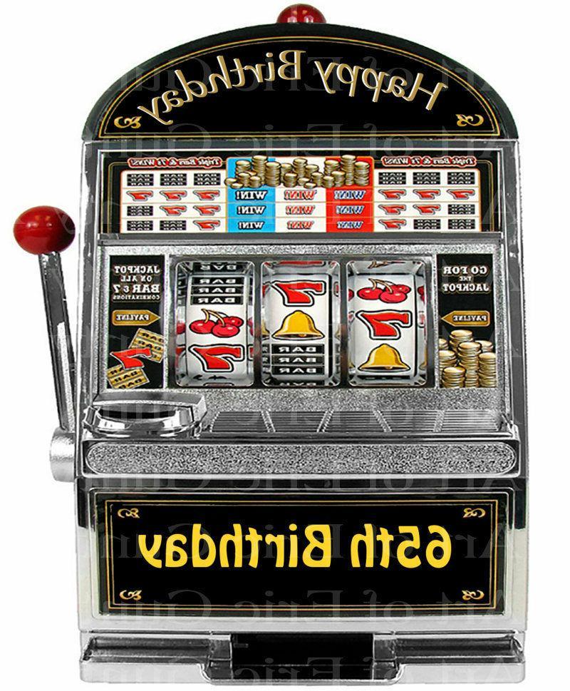 happy 65th casino birthday edible 2d fondant