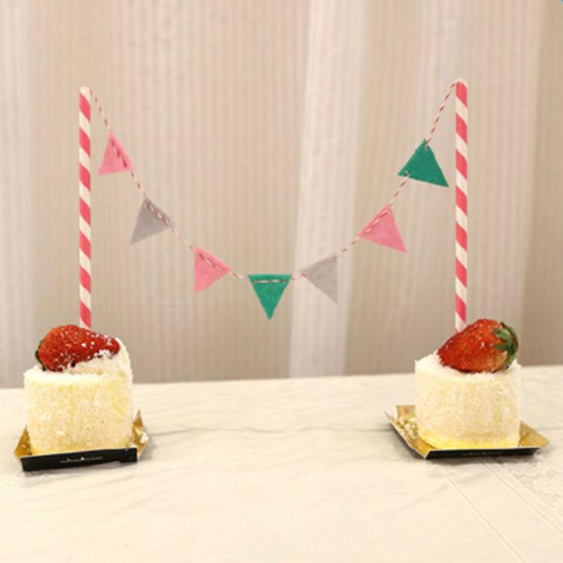 Happy Cake Bunting Banner Topper Party