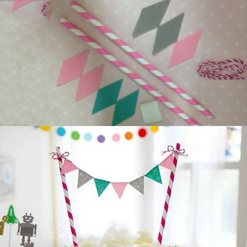Happy Birthday Bunting Food Topper Shower Party