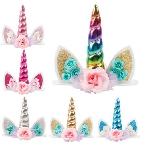 Happy Cake 1th Unicorn Cupcake Kids Birthday