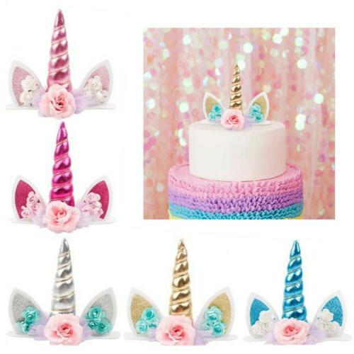 unicorn horn cake topper kids baby shower