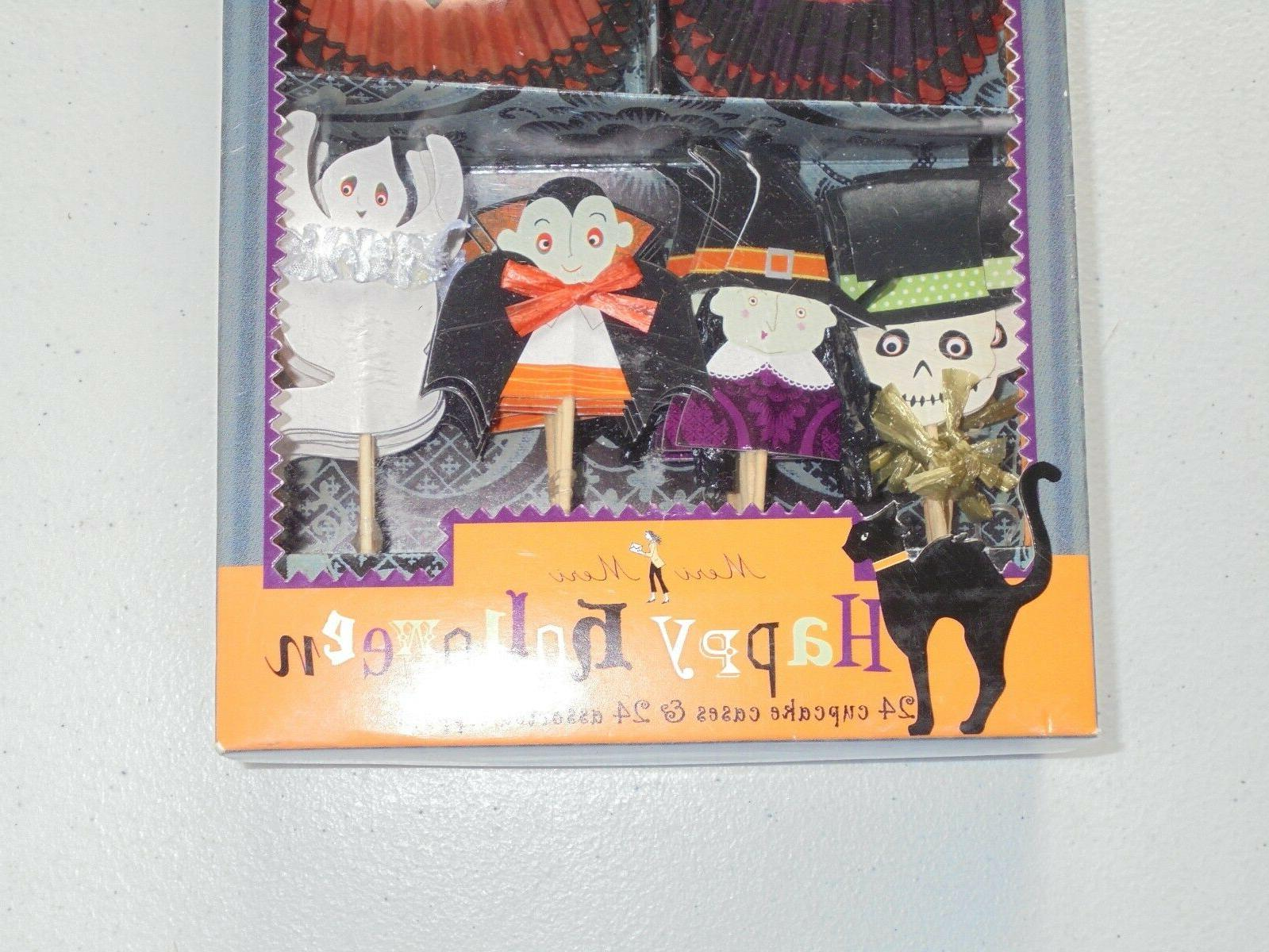 Meri Happy Cupcake Toppers Cups Vampire Witch 24 Pcs