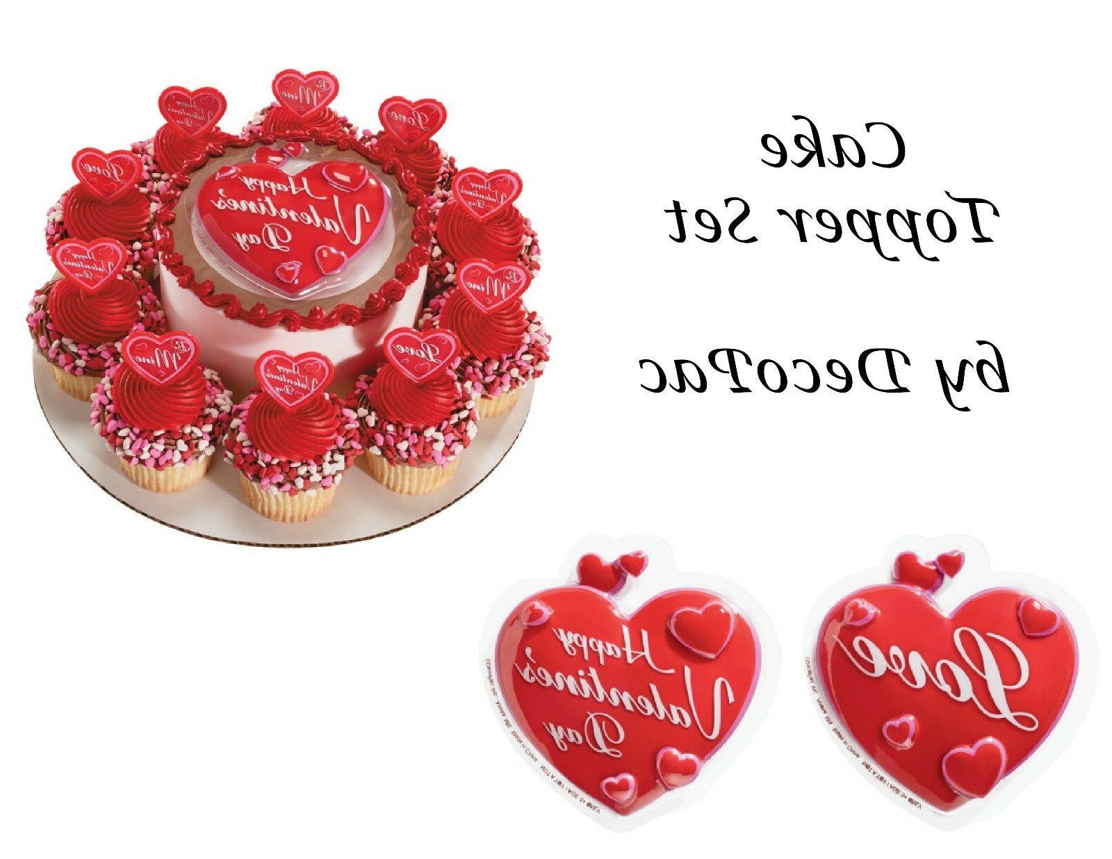 Happy Valentine's Day Cake Topper Sets, DecoPac Picks & Pop