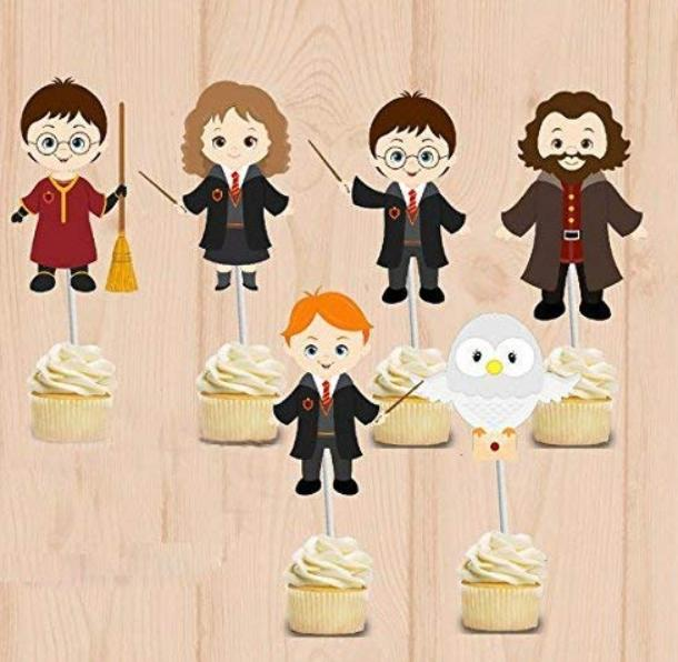 Harry Potter Toppers Birthday Party Set of 24