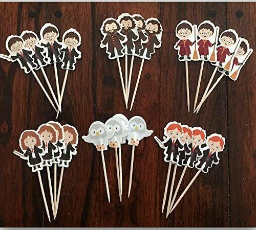 Harry Potter Cupcake Toppers Birthday Party Supplies Set of 24