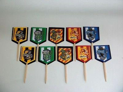 Harry Potter Cupcake Toppers. Cake decor. Favor Tags ,party
