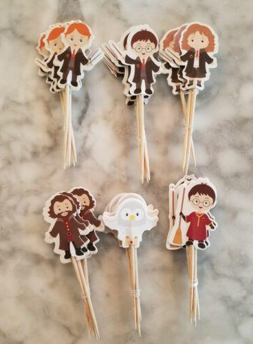 harry potter cupcake toppers kids birthday party