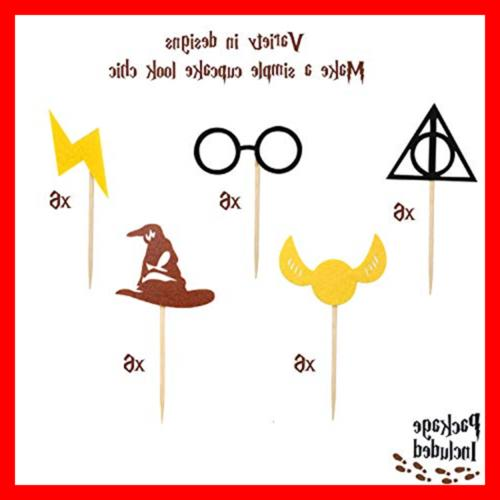 Harry Potter Cupcake Toppers Birthday Cake Decorations Pac