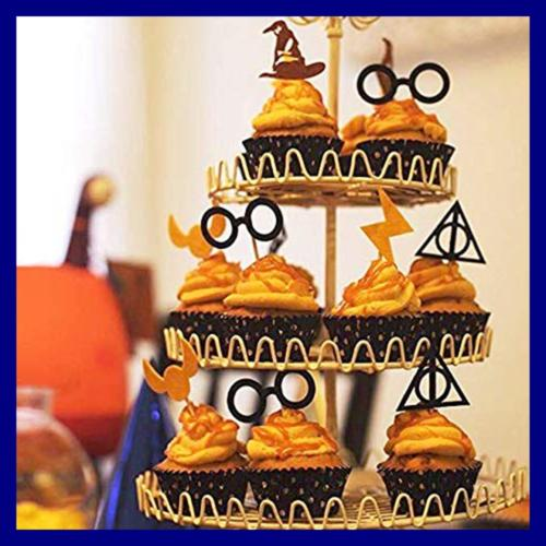 Harry Potter Inspired Toppers Wizard Birthday Party Cake Decorations