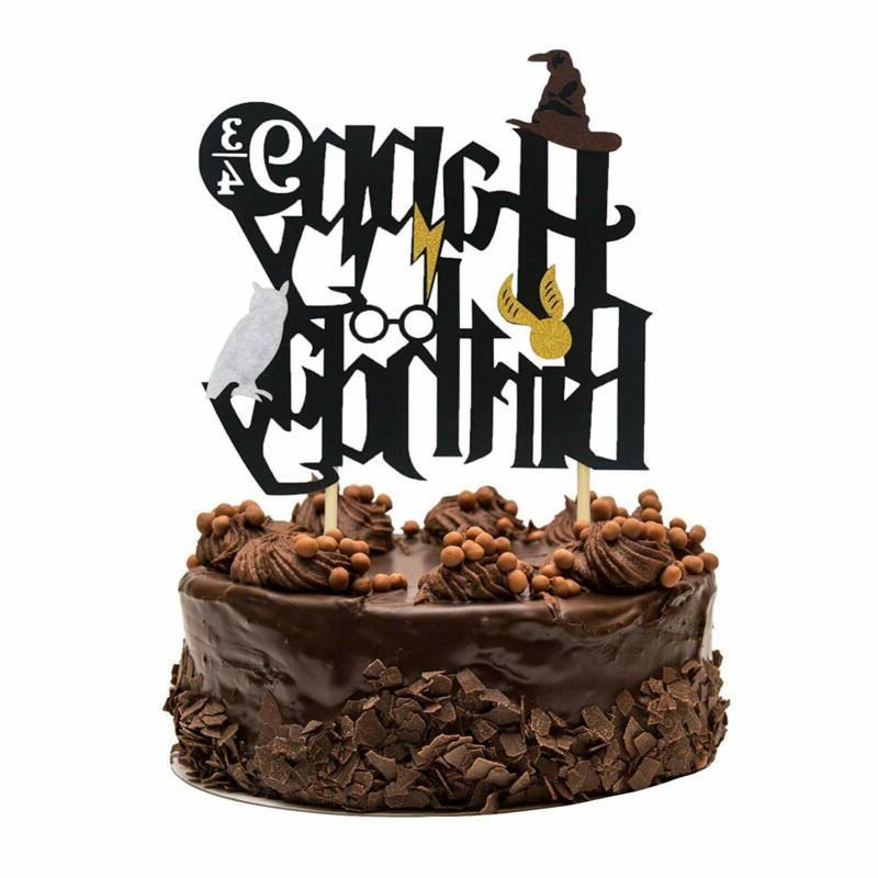 Harry Potter Inspired Birthday Cake Topper Cupcake