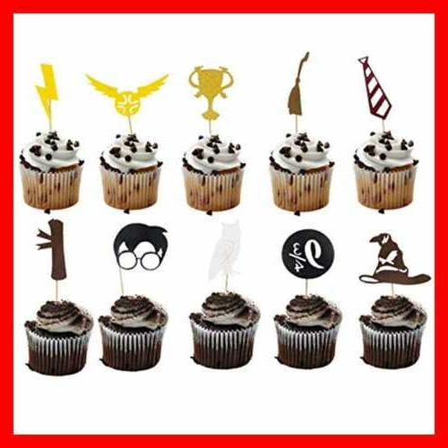 Harry Potter Birthday Cake Topper & Cupcake Toppers