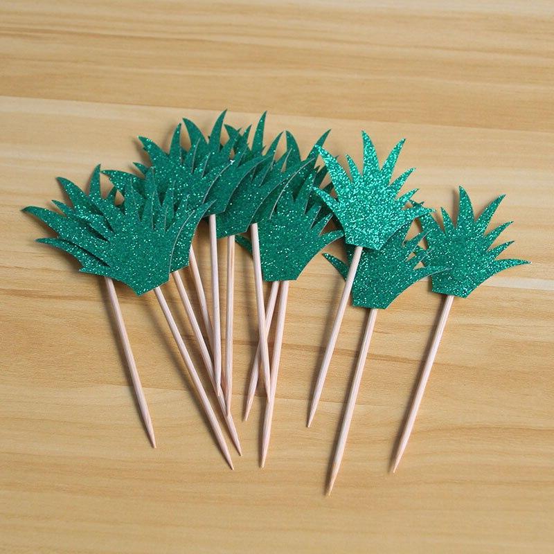 Hawaiian Luau Palm Monstera Leaf Cake Table Decorations Supplies