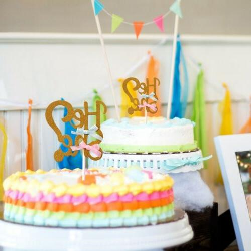 He Toppers Cupcake Shower Gender Reveal Party Decor