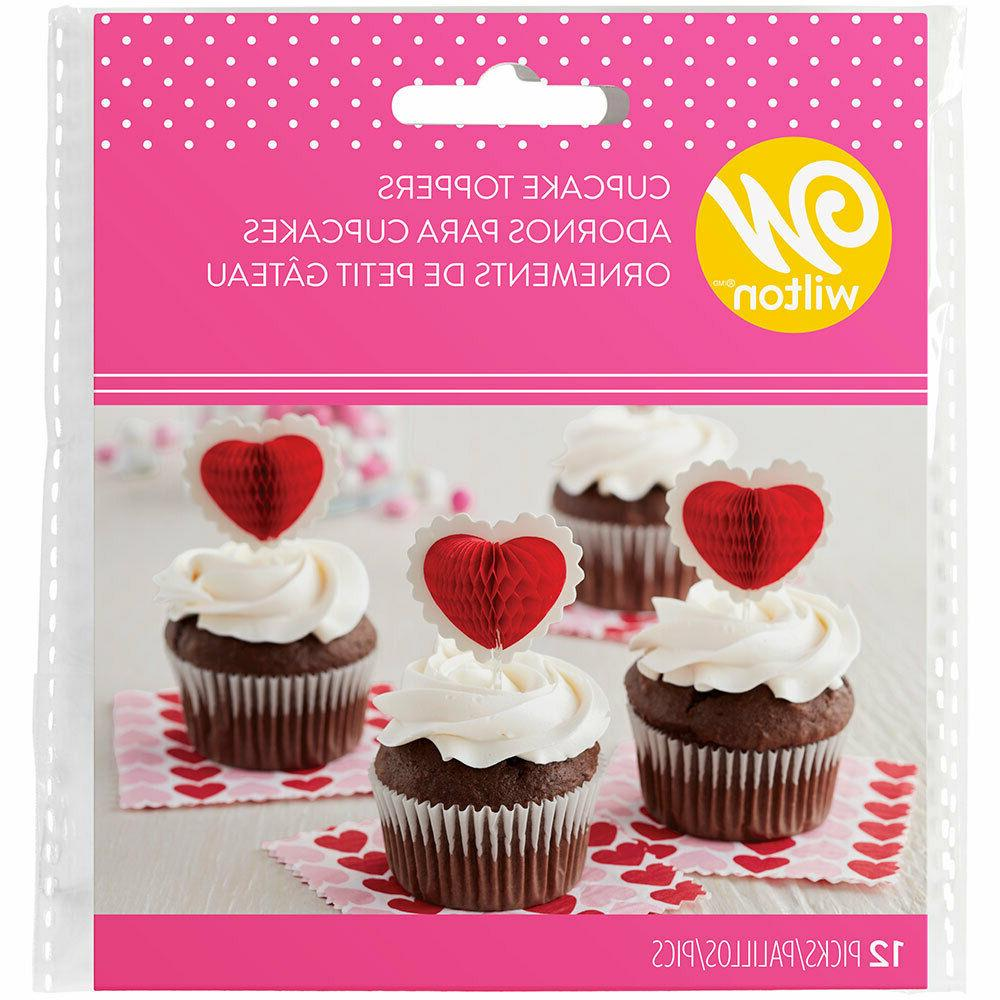heart cupcake toppers picks