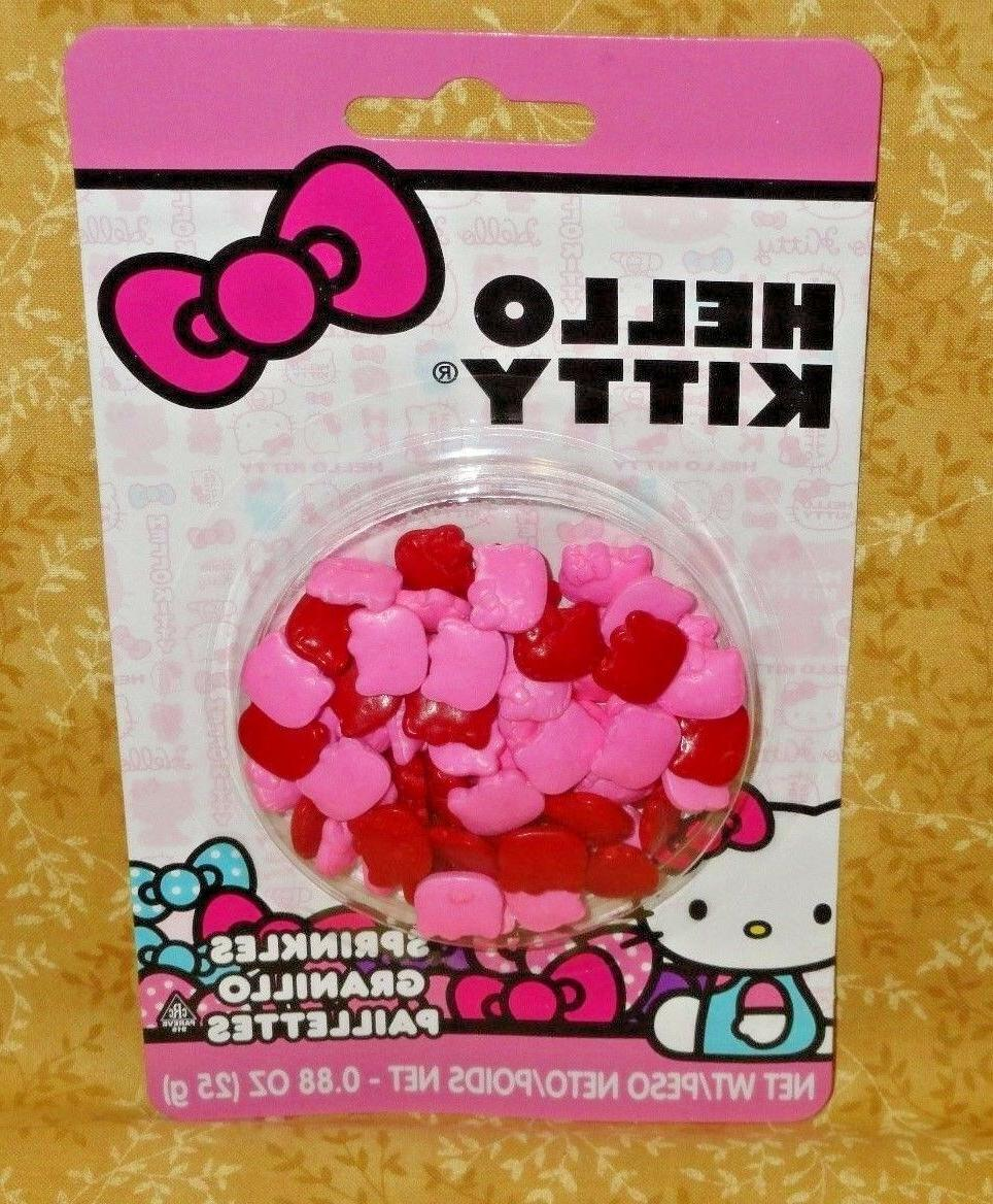 Hello Kitty Candy Sprinkles,Cupcake Toppers,Edible,Wilton.71