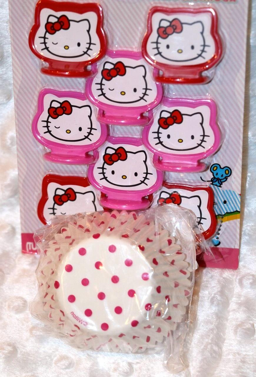 HELLO Valentine Cupcake Toppers & matching cups