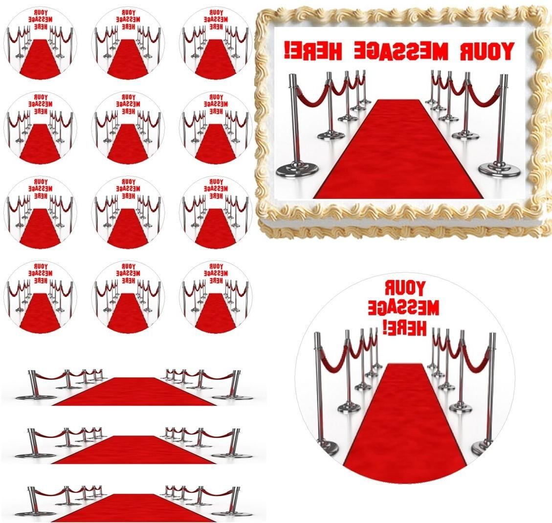 Hollywood Red Carpet Glam Edible Cake Topper Image Cupcakes