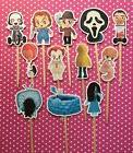 Horror Movies Halloween Party Set Of 12 Cupcake Toppers