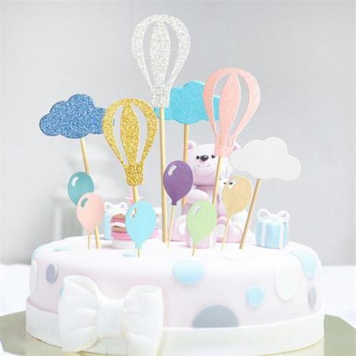 hot air balloon cupcake toppers cloud kids
