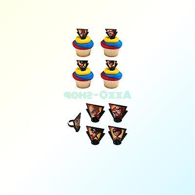 incredibles 2 dynamic cupcake rings