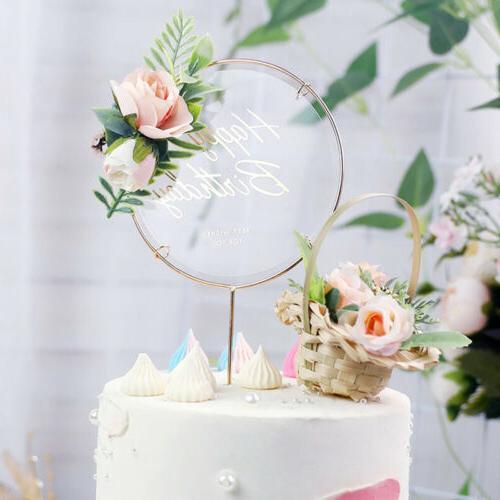 Iron Birthday Topper Cupcake Dessert Decor
