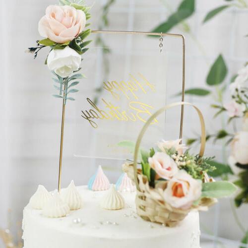 Iron Acrylic Flower Birthday