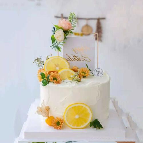 Iron Acrylic Happy Birthday Cake Cupcake Dessert