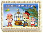 JAKE AND THE NEVERLAND PIRATE Birthday Image Edible Cake top