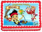 JAKE AND THE NEVERLAND PIRATE Image Edible Cake topper Party